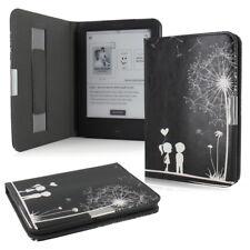 Flip Tasche für Tolino Shine 2 HD Leder-Imitat Schwarz Schutzhülle Etui Blume