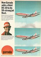 1977 Original Advertising' Garuda Indonesian Airways Company Aerial DC-10