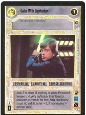 Star Wars CCG Reflections II Foil Luke With Lightsaber