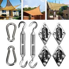 8x Acier Kit Outil D'installation Voile D'ombrage Mousqueton Fixation Accessoire