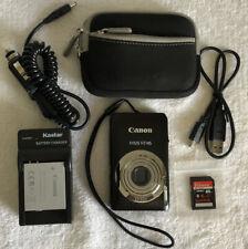 RARE~~Canon IXUS 117 HS 12.1MP 4X Optical~~Black~~Nr Mint~~Bundle~~