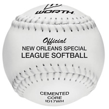 "New Lot Of 12 Debeer Worth Official New Orleans 17"" Cabbage Softball White"