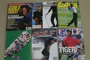 sports illustrated golf tiger woods magazine lot 1996 early issues lot program