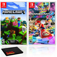 Minecraft + Mario Kart 8 Deluxe - Two Game Bundle - Nintendo Switch
