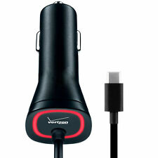 Samsung Galaxy S8 & S8 Plus USB-C OEM Verizon FAST Rapid Car Charger Type C