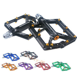 SMS Road MTB BMX XC AM Bike Bicycle 4 Bearings Pedals flat Platform Pedal 9/16""