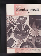 New Dennison Craft Ideas Booklet 1936 Lamps Mats Bags Dolls Baskets Rugs