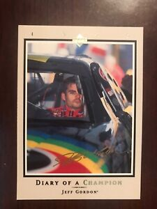 1996 Upper Deck Road to the Cup Diary of a Champion #DC10 - Jeff Gordon