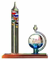 Acurite Glass Galileo Thermometer With Globe Storm Glass - Fahrenheit Reading