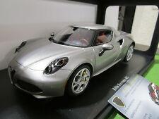 ALFA ROMEO 4C gris argent silver au 1/18 AUTOART 70187 voiture miniature