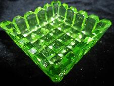 neon Green Vaseline Uranium glass salt dip cellar celt master yellow canary glow
