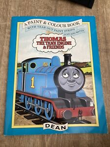 Thomas the Tank Engine And Friends Vintage 1993 Dean Paint & Colour Book