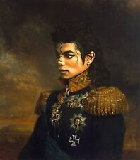 "100% Hand Painted Portrait Oil Painting on Canvas/General ""Michael Jackson"""
