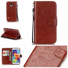 Butterfly Wallet Leather Flip Case Cover For Samsung Galaxy S2/S3/S4/S5/S5 Mini