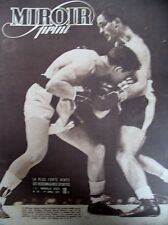 BOXE NEW-YORK MADISON SQUARE GARDEN CERDAN HAROLD GREEN N° 47 MIROIR SPRINT 1946