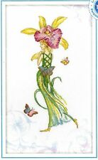 "Broderie Point de Croix compté Série Orchid Dance ""Lady's Slipper"" RTO M70006"