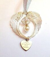 Guardian Angel Wing Bright Silver Memorial Gift A Piece of my Heart is in Heaven