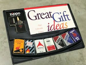 "ZIPPO Limited Edition ""Lighter Fluid Bottle Design History"" Set of 8 w Display"