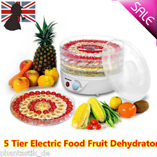 5 Tray Electric Food Dehydrator DIY Fruit Preserver Beef Jerky Thermostat Dryer