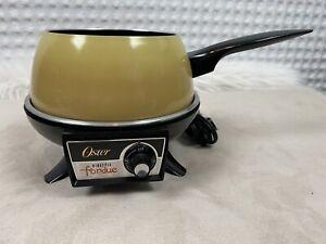 Vintage Oster Fondue Pot Tested Works