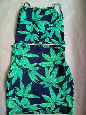 Motel Fonda Kimmy palm leaf green summer beach wear size s