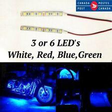 2Pcs 5/10cm Waterproof 3/6 LED 5050 Strip Light Flexible 12V Car Boat Motorcycle