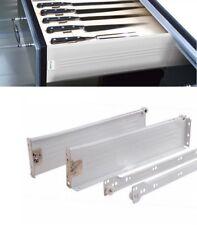 METALBOX Schublade-Set Höhe 86mm Weiß Grau mit Zargenführungen Schubkästen