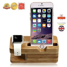 Desktop 2in1 Supporto Caricabatteria Cavo Docking Station per Apple iPhone Orologio UK