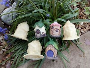 3 New latex moulds, FAIRY HOUSES garden, home ornaments👼💞