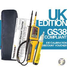 Di-Log DL6790 Voltaje & Probador Continuidad kit7, PL107N Detector de y funda