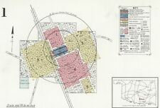 Davis, Oklahoma-Sanborn Map© sheets with 45 maps in full color~1894 to 1939