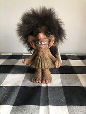 vintage Norwegian NyForm Collector Green Dress Girl Troll Doll #115