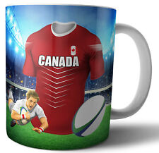 Canada - Rugby Themed Mug - Birthday - Christmas - Stocking Filler - Gift