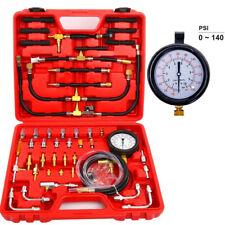 140PSI Gas Fuel Injection Pump Injector Pressure Tester Dual Dial Pressure Gauge