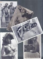 CULTURE ETHNIC PEOPLE TRIBE 5 POSTCARDS NUDE WOMEN AFRICA