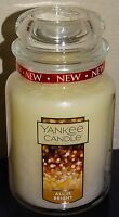 Lot 2 Yankee Candle All Is Bright Large Jar Candle 22 oz NEW 1513535 White Label