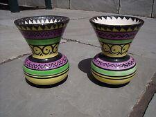 Pair of Retro/Vintage Quimper Vase with Geometric pattern 1960s/70s