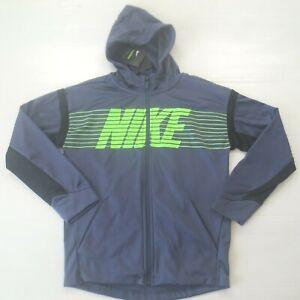 Nike Boys Therma Full Zip Hoodie - BV3780 - Purple 557 - Size L - NWT