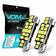 JDM ASTAR 2x 42MM White 2835 SMD Rigid Loop 569 560 578 LED Dome Map Light Bulbs