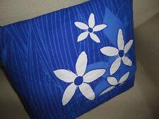 IKEA GULDLIN BLOM BLUE HIBISCUS FLORAL (1) FULL DUVET 84 X 79 100% COTTON