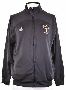 ADIDAS Mens Kell Soccer Tracksuit Top Jacket UK 44/46 Large Black LG01