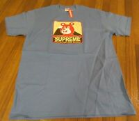 Supreme Bear Tee T-Shirt Size Large Dusty Light Royal FW20 Supreme New York DS