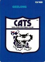 ✺New✺ 1990 GEELONG CATS AFL Card CLUB LOGO Scanlens