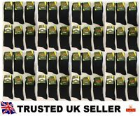 *200 PAIRS MEN'S BLACK SOCKS COTTON RICH FORMAL SOCKS EVERYDAY size UK 6-11 DRSM