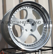 19x9.5 Varrstoen Es6 5x114.3 +12 White Wheels (Set of 4)