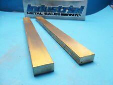 "1/2"" x 1"" x 12""-Long 360 Brass Flat Bar -->.500"" x 1.0"" 2 PACK MILL STOCK"