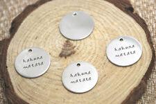 10pcs hakuna matata charm silver tone message charm pendant 20mm