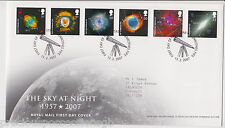 GLENROTHES GB ROYAL MAIL FDC FIRST DAY COVER 2007 THE SKY AT NIGHT STAMP SET