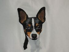 Embroidered Ladies Short-Sleeved T-Shirt - Toy Fox Terrier Bt4539