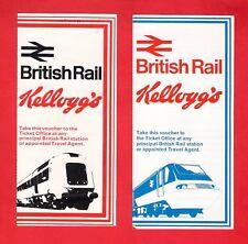 2 Tickets - British Rail Kelloggs Special Offer Vouchers - 1976 & 1978 - Unused